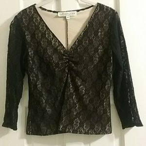 Black lace Jessica Ash top